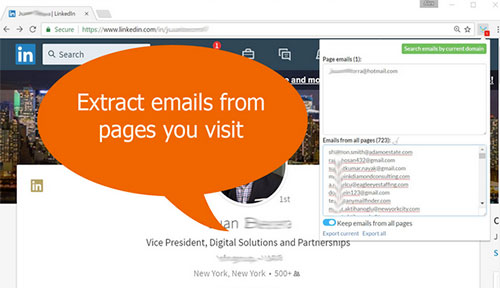 linkedin email extractor chrome