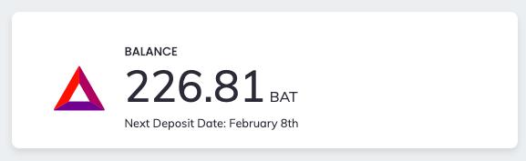 brave publisher BAT balance