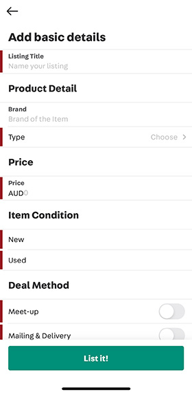 optimize your product listing on the carousell app
