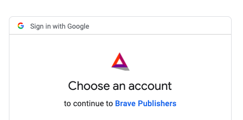 how to earn bat with brave - sign into google and select your youtube account to earn BAT