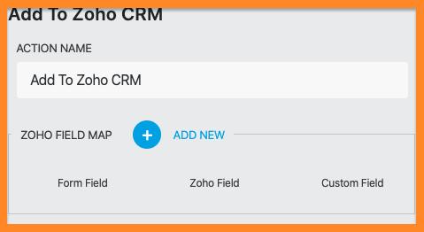 Zoho CRM for WordPress