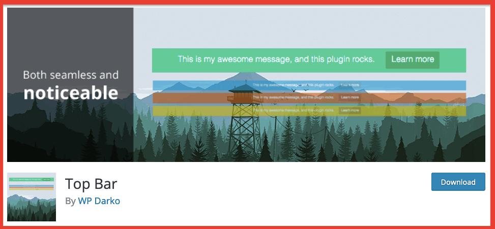 topbar wordpress plugin