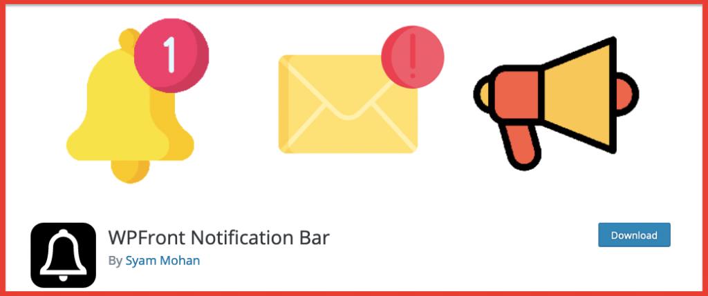 wpfront notiifcation bar plugin