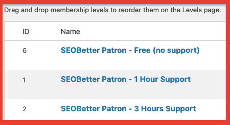 Create tiered levels for your membership processing