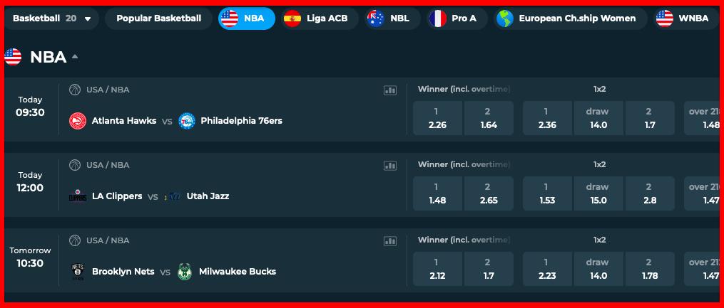 NBA crypto sports betting exchange
