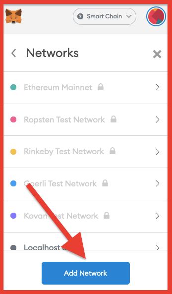 add custom network to Metamask
